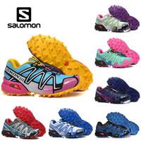 zapatillas de running impermeables para mujer. al por mayor-Salomon Speed Cross 3 CS Hombre Zapatillas de excursionismo al aire libre SpeedCross Impermeable para mujer Atletismo Zapatillas de deporte deportivas 36-46