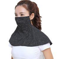 noktalı şal toptan satış-Özgürce nefes Güneş Maskesi Toz Geçirmez Kum Sürme Bisiklet Maskeleri Ultraviyole Geçirmez Boyun Koruma Şal Renkli Nokta 4 8gy A1