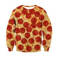 jersey de hamburguesa al por mayor-Impresión 3D Pizza Gato Galaxy Hamburguesa Sudaderas Con Capucha Sudaderas Hombres Mujeres Jerseys Otoño Invierno Jumper Regalos de Navidad Hombres Tops Unisex