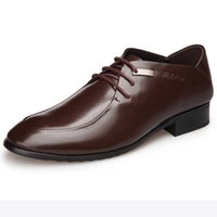 sapatos de vestido pontilhado inglaterra venda por atacado-Business dress homens sapatos de couro real sapatos de casamento 2018 inverno casual homens Inglaterra apontou