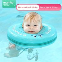 Wholesale baby swimming ring swim tube resale online - Waterproof Baby No Need Inflatable Neck Ring Float Swimming Accessories Tube Safety Infant Float Circle for Bathing Water