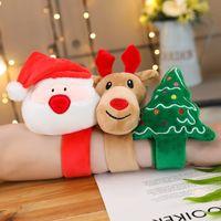 Wholesale big santa claus doll resale online - Christmas present New fabric cartoon Santa Claus wristband doll bracelet creative plush toy ring Christmas Toy