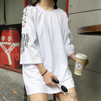 Wholesale korean fashion dresses for summer for sale - Group buy Women S Spring Summer Korean Chic Retro Fashion Ring Printing Loose T Shirts Students Female Harajuku Clothes Tshirt For Women