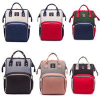 bebek bakım çantaları toptan satış-Moda USB Mumya Doğum Bezi Çantası Büyük Hemşirelik Seyahat Sırt Çantası Tasarımcı Arabası Bebek Çantası Bebek Bakımı Nappy Sırt Çantası