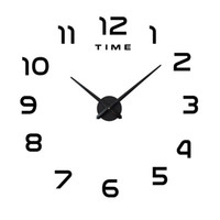 Wholesale sales wall sticker resale online - Wall Sticker Clocks Super Large DIY Acrylic Wall Clock Living Room Creative Decorate Self Sticking Hot Sales Black White Silver mtC1