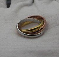 farbe pops ring großhandel-Pop-Dur Punk Stil Gold Silber stieg tri Farbe Frauen Hochzeit Ringe Bands Ring Fashion Edelstahl-Schmuck-Geschenk
