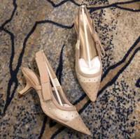 importiertes mädchen großhandel-2019 europäischen stil importiert hochwertige damen high heel sandalen partei schuhe mode mädchen sexy spitze schuhe hochzeit schuhe sandalen