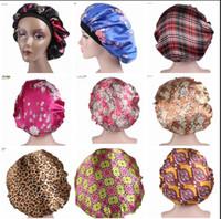 Wholesale salon hair dyes resale online - Soft Satin Sleeping Cap Salon Bonnet for Women Comfortable Night Sleep Hat Hair Loss Cap Ladies Turban