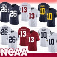 d06a74dad95 Alabama Crimson Tide 13 Tua Tagovailoa College NCAA Jersey Michigan  Wolverines 10 Tom Brady Penn State Nittany Lions 26 Saquon Barkley