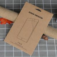 protector de pantalla para onda al por mayor-Paquete de caja de Kraft Retail Bolsas de embalaje de papel bolsa para Protector de Pantalla de Vidrio Templado para ipad air2 5 6 234 Mini Nuevo ipad 2017