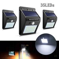 dış duvar lambaları sensörü toptan satış-35 led güneş ışıkları güneş pir motion sensörü açık üç modları ile açık su geçirmez bahçe lambaları dış duvar lambaları süper parlak