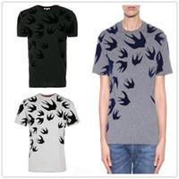 reina camisetas al por mayor-19SS nueva llegada de París reina Swallow Swarm Camisetas cuello redondo unisex de manga corta de verano tee transpirable camisa chaleco Streetwear al aire libre camiseta