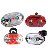 Wholesale 4styles LED Bicycle Plastic Taillight Mountain Bike Warning Lamp Quakeproof Light WaterProof outdoor sport cycling light FFA1806
