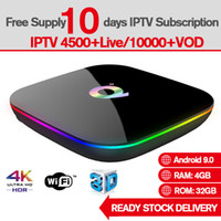 Wholesale free tv android box for sale - Group buy Q Plus Android TV Box Allwinner H6 Quad Core GB GB TV Box Support Free IPTV Subscription Global Live TV Channel