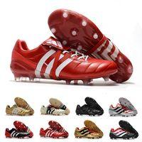ag ayakkabıları toptan satış-2020 Erkek Futbol Profilli Predator Hızlandırıcı FG AG Deri Futbol Ayakkabı PREDATOR HIZLANDIRICI TR Kramponlar de futbol Çizme Eur 39-46