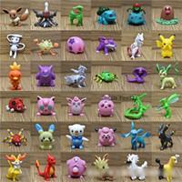 mini boyut bebek toptan satış-POKEMAN GITMEK Rakamlar Oyuncaklar 100/150 Farklı Karakterler M Boyutu 3-5 CM Pikachu Topu Bebek Sürpriz OYUNCAKLAR