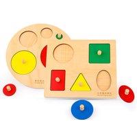 bildung spielzeug rätsel großhandel-Puzzles für Kinder Holz Lernspielzeug für Kinder 3D-Puzzle Baby Learning Education Games