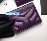 Wholesale make cards for sale - Group buy new fashion made in real sheepskin wallet card holder for unisex women men credit card bag with box excellent quality