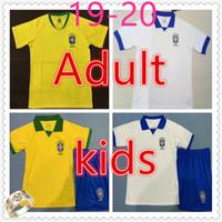 5c38b0805 brasil Adult mens home away soccer jersey 19-20 MARCELO COUTINHO FIRMINO G. JESUS kids kit football jerseys maillot de foot football shirt