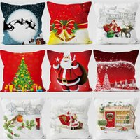 Wholesale red striped pillows for sale - Group buy 2019 Christmas Decoration for Home Christmas Pillows Cover Santa Clause Plush Pillowcase Merry New Year Decoration