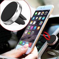 cep telefonları için araba beşiği toptan satış-Evrensel 360º Araba Hava Firar Manyetik Montaj Cradle Tutucu iPhone Cep Cep Telefonu GPS için Standı