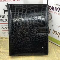 vintage timsah erkekler toptan satış-Adam Deri Dizüstü Siyah Gündem Lüks Timsah Günlüğü Ofis Dizüstü Bloknotlar El Yapımı Kişisel Günlüğü Kırtasiye Ürünleri