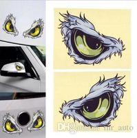 etiquetas dos olhos de gato venda por atacado-10x8 cm 3D Estéreo Reflexivo Olhos de Gato Adesivos de Carro Lado Do Carro Fender Adesivo Espelho Retrovisor Windows Vinyl Decal Car Styling CCA9430 200 pcs