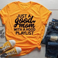 b074ff1e Just a Good Mom with Hood Playlist t-shirt mother day gift funny slogan  grunge aesthetic women fashion shirt vintage tee art top