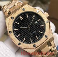 relógio de ouro real venda por atacado-Rose Gold Automático Esqueleto de Luxo Homens ROYAL OAKS Homens Assista Relógios DIVER Relógios de Pulso Orologio Di Lusso Relógios Montre