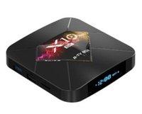 allwinner skype-tv-box großhandel-X10 Plus allwinner h6 4 GB DDR3 64 gb eMMC Android 9,0 TV BOX Quad Core 6 Karat smart tvbox 30 stücke DHL