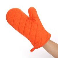 guantes de lino de invierno al por mayor-Guante de algodón resistente al calor del horno de microondas manopla de cocina de cocina Guantes Guantes espesados Microondas aislamiento antideslizante 8 Colores