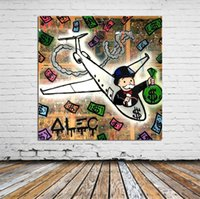 Wholesale Alec Monopoly Monopoly PJ Home Decor HD Printed Modern Art Painting on Canvas Unframed Framed