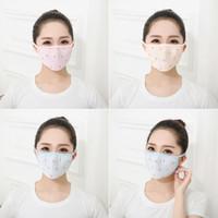 ingrosso maschera di bellezza per il viso-Maschera per la bocca sottile in seta di ghiaccio con protezione solare estiva Maschera per il viso traspirante lavabile per la salute Bellezza Bellezza Prodotti per la cura personale