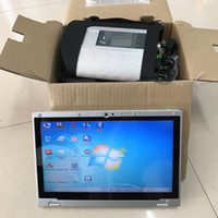 Wholesale latest tablet resale online - Latest MB star C4 soft ware V in G SSD with tablet CF AX2 laptop i5 G diagnostic for MB cars trucks Diag