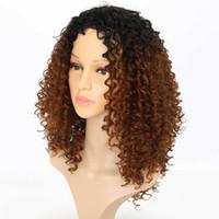 afrika özgür sentetik saç toptan satış-Ücretsiz Kargo Kısa Sentetik Peruk 14 inç Kısa Saç Sapıkça Kıvırcık Peruk Sentetik Peruk Siyah Kadınlar için Afro-amerikan Peruk Altın Güzellik