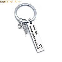 Wholesale Personalized Engraved Keychain Drive Safe I need you here with me Key Chain Couples Keychains For Hunsband Boyfriend Jewelry Gifts