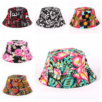 Bucket Hats Women Sun Hat New Fashion Women beach hats Carton Printed  Flower Hats Girls Caps 27 Styles Colourful Printing Fisherman Cap d788660311b6