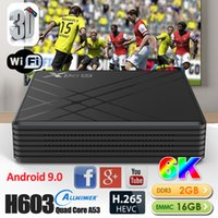 ingrosso dlna media-X96M Android 9,0 intelligente tv box lettore multimediale Allwinner H603 2GB DDR3 16GB EMMC usb 6k 2.4G set top box wifi