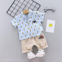 5482c9211 Summer Children Baby Boys Girls Cotton Clothes Kids Cartoon T-Shirt Shorts  2pcs Sets Toddler Fashion Clothing Infant Tracksuits