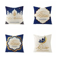 Wholesale popular beds for sale - Group buy Print Pillow Case Ramadan Muslim Style Pillowcase Cushion Cover Home Bed Sofa Chair Use Decor Popular jza H1