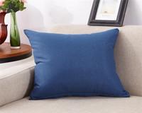cojines de sofá azul marino al por mayor-Azul marino Liner Home Sofá CartoonThrow Funda de almohada Funda de almohada Funda de cojín Decoración Funda de almohada En blanco Regalo de Navidad Decoración