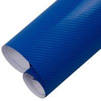 auto aufkleber blase blau großhandel-4D Blau Kohlefaser Vinyl Auto Wrap Rolle Film Selbstklebende Aufkleber Blase Freies Auto Styling Zubehör