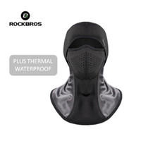 Wholesale winter thermal scarf for sale - Group buy ROCKBROS Skiing Bibs Thermal Fleece Face Mask Ski Scarf Snowboard Hats Plus Dustproof Filters Winter Cycling Camping Balaclava