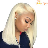 Wholesale new human hair wigs for sale - Group buy Blonde Short Bob Straight Hair Wigs New Arrival Human Hair Wigs Lace Frontal Wigs Pre plucked Hairline