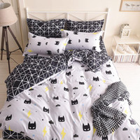 Wholesale batman bedding for sale - Group buy Batman Mask Print Bedding Set Cartoon Style White Color Kids Twin Full Queen Size Duvet Cover Sheet Pillowcase Bedding Sets