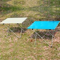 Wholesale bbq lighting for sale - Portable Desks Folding Tables Outdoors Camping Kitchen Aluminium Alloy Instrument Ultra Light Bbq Picnic Convenient Multi Sizes qx2f1