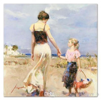 Wholesale pino oil paintings resale online - High Quality Pino quot Lets Go Home quot Handpainted HD Printed Portrait Art oil painting Home Decor On Canvas Multi Sizes Frame Options p75