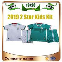 camisolas para rapazes venda por atacado-2019 2 star Argélia Kids kit home Camisa De Futebol 19/20 Argélia MAHREZ Criança Camisa De Futebol BENNACER FEGHOULI Menino ATAL BELAILI Uniforme de futebol