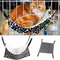 ingrosso grande amaca del gatto-Pet Hanging Bed Polk Dot Poliestere Pet Rat Coniglio Cincillà Cat Cage Hammock Piccolo animale Coperchio Borsa Coperte CNY1008