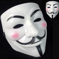 ingrosso decorazioni di pallacanestro di valentine-5000 pz V Maschera Maschere mascherate per Vendetta Anonimo Palloncino San Valentino Decorazione per feste Full Face Halloween Super Scary Party Mask